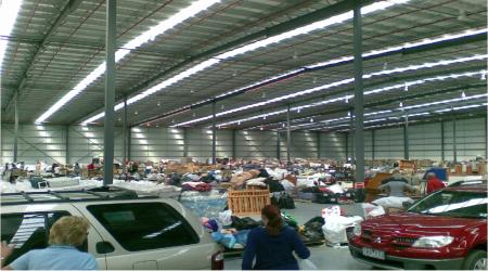 Black Saturday bushfire relief donation centre