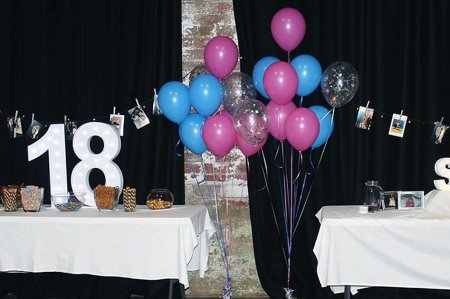 Space 338 18th birthday event table