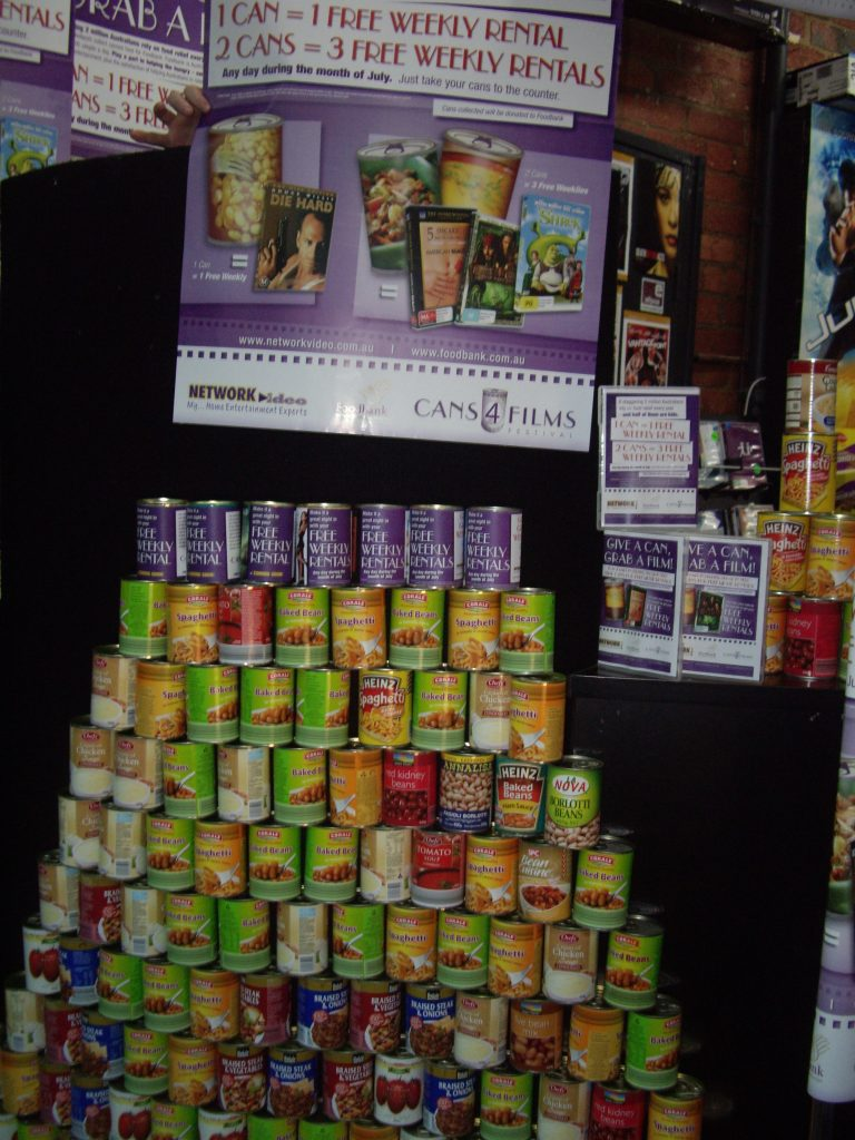 Cans4Films Festival display (2008)