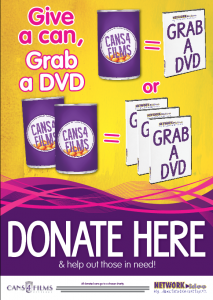 Cans4Films 2012 Donate Here Poster