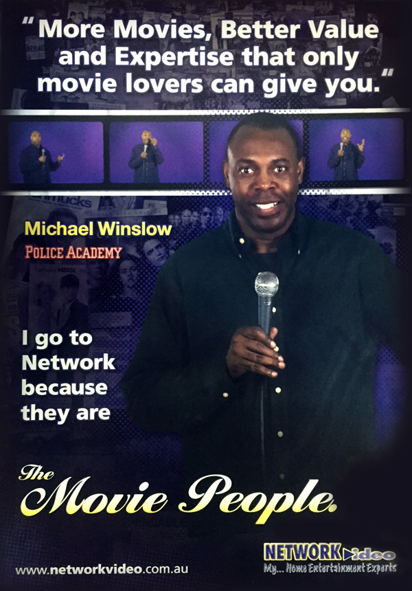 Michael Winslow Network Video Poster