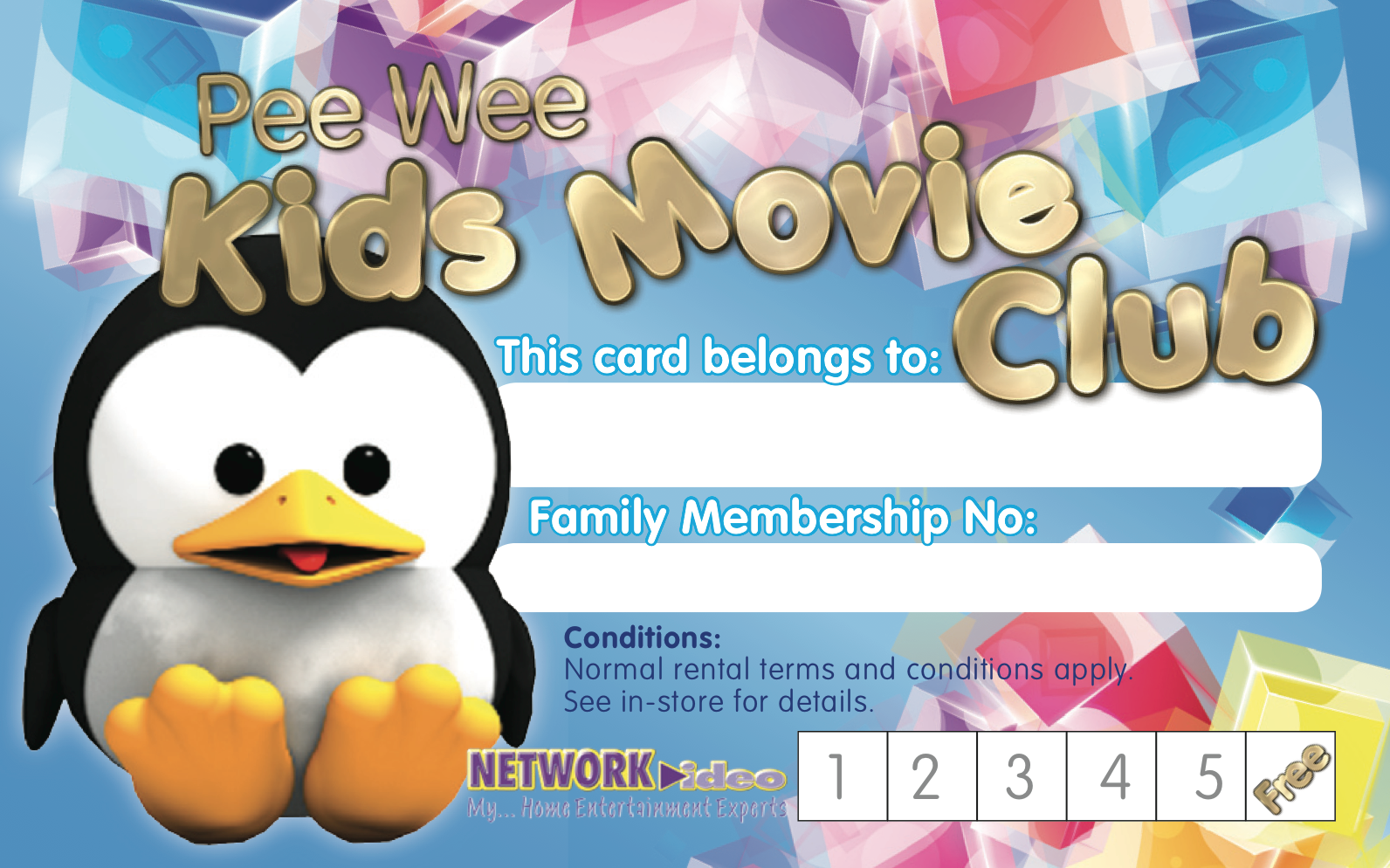 Kids Movie Club Network Video Card back